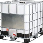 Емкость пэ куб. 1000 л с краном комбинированая UN с широким краном 80 мм